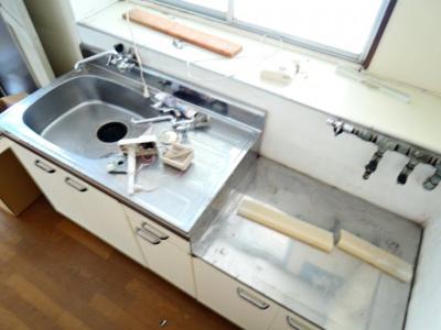 【キッチン】中谷借家2戸一B号