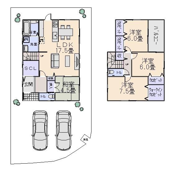 堺市南区庭代台1丁新築一戸建B号地(庭代台小学校)