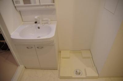 独立洗面台も室内洗濯機置き場もうれしいですね