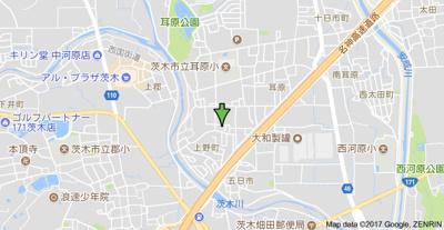 【地図】メープルコート上野 Ⅱ
