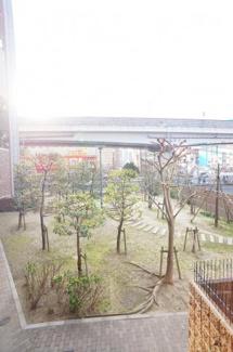 マンション敷地内に広場あります☆緑豊富です♪