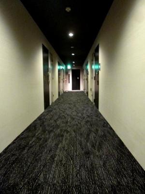 共有部の廊下には絨毯が敷かれていて高級感たっぷりで足音も気になりにくいですね