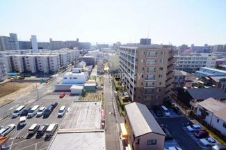 南面バルコニーからの眺望です。