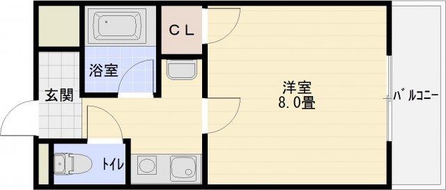 ファーストマンション 河内国分駅 大阪教育大前駅 1K 南向き