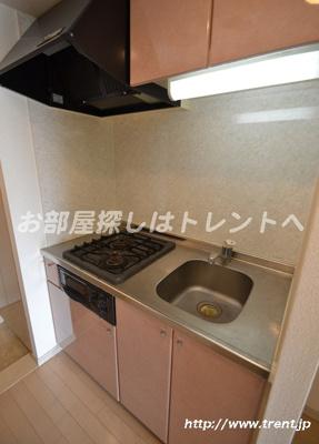 【キッチン】ガラステーション四谷三丁目