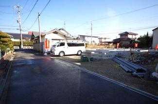 B棟 前面道路含む現地(2018年01月)撮影