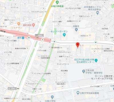 【地図】ステージファースト西池袋