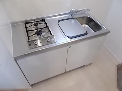 システムキッチン 2口ガスコンロ