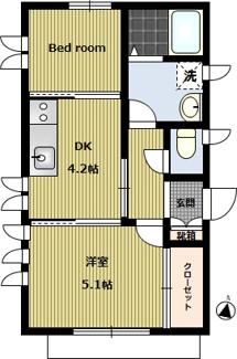 1階(1フロア)専有! 4面採光! ベッドルーム広さ:縦213㎝×横203㎝