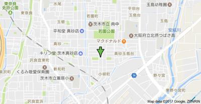【地図】グリーンロード茨木