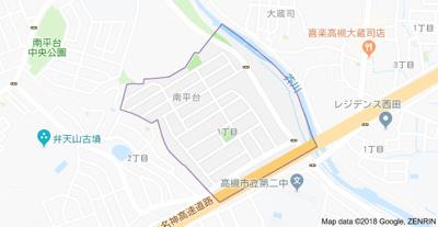 【地図】南平台1丁目福光邸 株式会社Roots