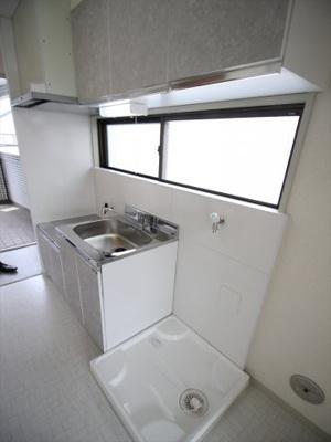 洗濯機置き場も室内にあります。