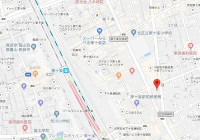 【地図】AZEST東十条