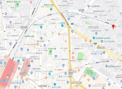 【地図】ディム東池袋