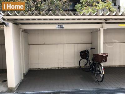 【来客用駐輪場・バイク置場】