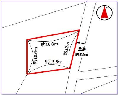 【区画図】中城村屋宜(54.14坪)