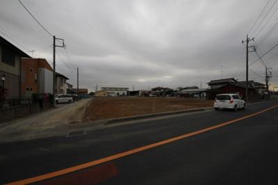 【前面道路含む現地写真】鴻巣市下谷◆事業用地◆