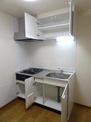 大竹ビル ガスコンロ2口のワイドキッチン!