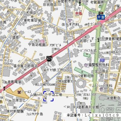 【地図】ラフィネ中島