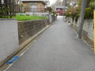 市原市瀬又 土地 JR誉田駅 前面道路は公道4m。交通量の少ない住宅街の道になります。