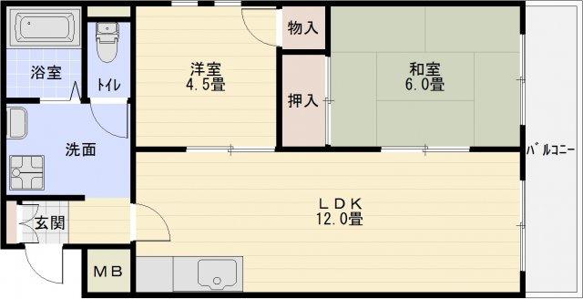 八尾市栄町 2LDK ペット相談