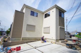 2号棟 現地(2018年6月)撮影 2号棟は南西角地。敷地も41坪以上あり陽当り良好です。
