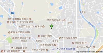 【地図】セーリオ安威A棟