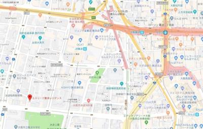 【地図】エスリード難波レジデンス