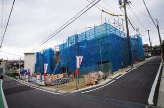 1号棟 前面道路含む現地(2018年04月)撮影