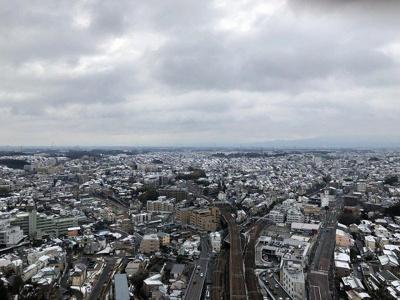 バルコニーからの眺望です☆28階からの眺めは良好!お天気が良いと富士山が見えますよ♪