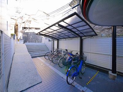 屋根付き駐輪場です
