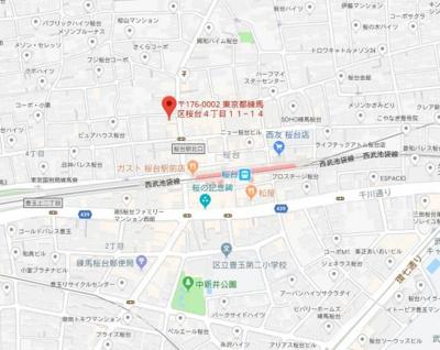 【地図】フレーミー桜台