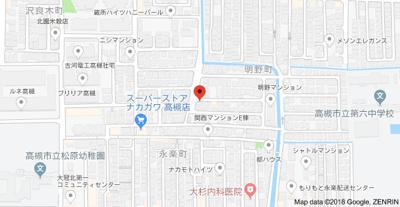 【地図】明野荘 スモッティー阪急高槻