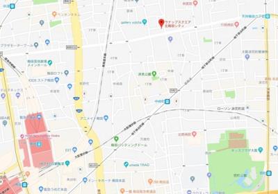 【地図】ラナップスクエア北梅田シティ