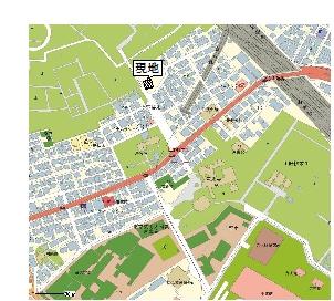 【地図】内野駐車場