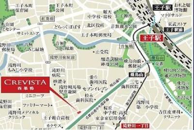 【地図】クレヴィスタ西巣鴨