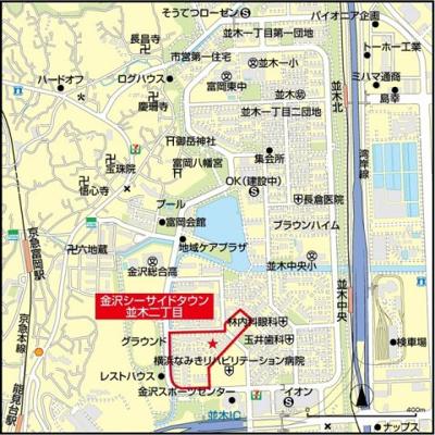 【地図】金沢シーサイドタウン並木二丁目7-7号棟