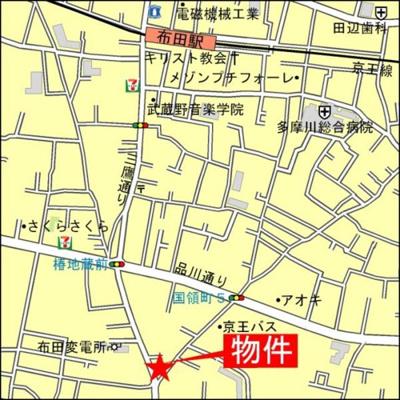 【地図】カーサグリーンプラザ