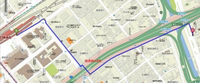 【地図】コンフォール湊川