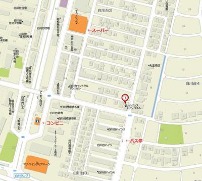【地図】メゾン・パル6