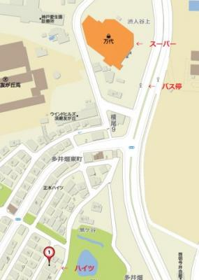【地図】AMENITY須磨