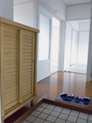 玄関から室内への景観です!右手に洗面所・バスルーム・トイレ、左手にシューズボックスがあります★