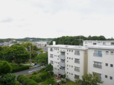 バルコニーからの眺望です♪周りに視界を遮る建物がないので景色がよく見渡せます!