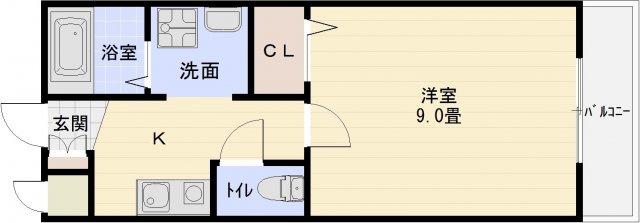 クレパレス1 高井田駅 河内国分駅 駅前 1K 学生マンション