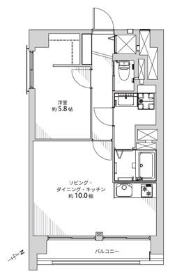 【居間・リビング】向島ハイツ 4階 リ ノベーション済