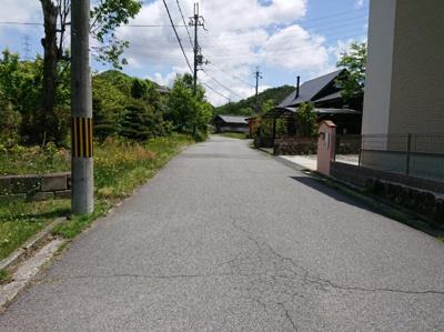 【前面道路含む現地写真】丹波篠山市今田町釜屋 中古戸建