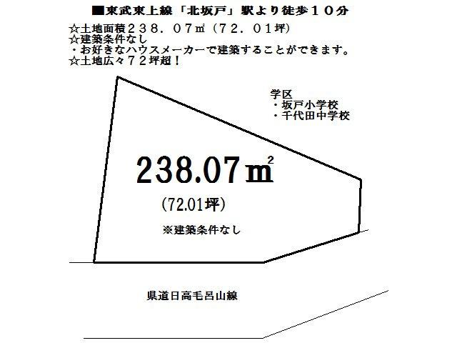 【土地図】坂戸市薬師町 売地