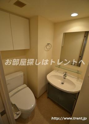 【洗面所】プレールドゥーク北新宿Ⅲ