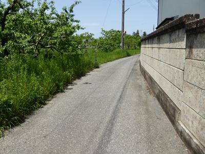 【前面道路含む現地写真】南アルプス市西野75.6坪土地