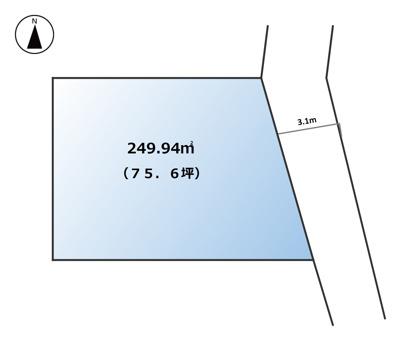【区画図】南アルプス市西野75.6坪土地